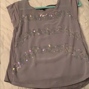 Gray sparkly Express shirt